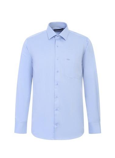 Kiğılı Klasik Gömlek Mavi